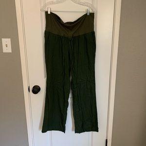 Old Navy linen maternity pants